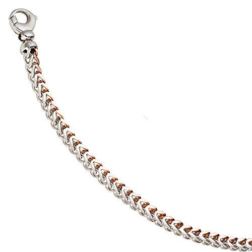 4 Mm couleur les bracelets bracelet en or blanc 585 or bicolore en 21 cm