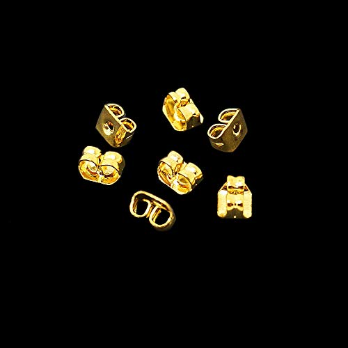 (SMALL-CHIPINC - Wholesale Earring Studs Backs Gold Rhodium Plated Butterfly Stopper Scrolls Ear Post Nuts Findings Fashion Jewelry Accessories)