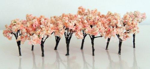 벚꽃 사쿠라 수목목 철도 모형 건축 모형용 디오라마 10개세트 세트