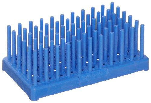 (Nalgene 5977-0317 Blue Polypropylene Test Tube Peg Rack for 17mm Test Tubes, Blue (Pack of 2))