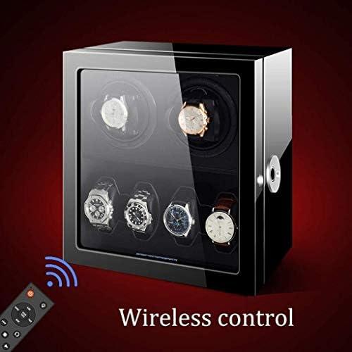 上げ機 自動ウォッチワインダーボックスタッチスクリーンと指紋ロックウォッチワインダー静かなモーター6または9腕時計自動ストレージボックス 腕時計ワインディングマシーン