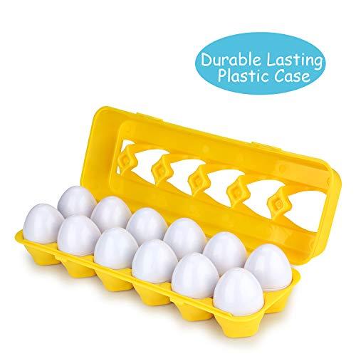 Anleolife Color Shape Matching Egg Set, Preschool Montessori Toys for Toddler Games, Educational Color Recognition Skills Learning by Anleolife (Image #6)
