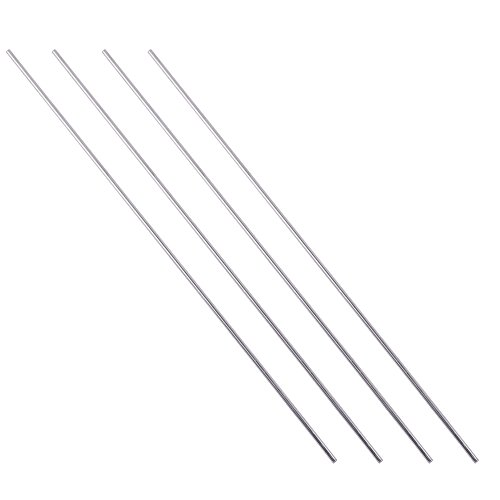Eowpower 4Pcs Stainless Steel 6mm x 200mm Round Rod Turning Lathe Bars Tool