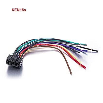 Davitu Wire Harness for KENWOOD Car Stereo Radio ISO ... on kenwood surround sound wiring diagram, kenwood stereo wire color codes, kenwood stereo wiring,