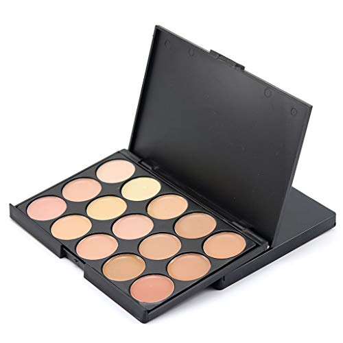 (Winner666 New Age Woman 15 Colors Face Concealer Palette and Brush Set Camouflage Cream Contour Palette (B))