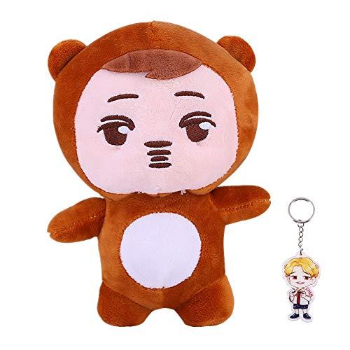 Youyouchard Kpop EXO Cute Cartoon Plush Doll Toy Chanyeol Xiumin Baekhyun Chen Sehun D.O. Suho Throw Pillow Cushion (chen)