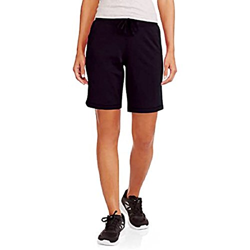 Athletic Works Women's Active French Terry Drawstring Shorts with Pockets Black XL