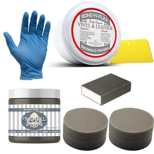 Heirloom Traditions Paint Bond-N-Flex Vinyl & Leather Repair, 8oz Kit (Truffle) (Kit Bond)