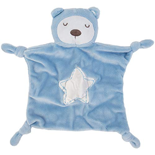 C.R. Gibson Snuggle Buddy Blue Bear Baby Blanket for Boys, 11
