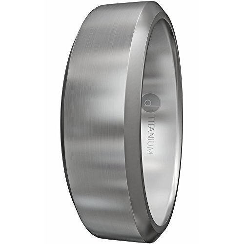 8MM Titanium Ring - Wedding Band & Promise Ring for Men and Women - Comfort Fit - Hypoallergenic