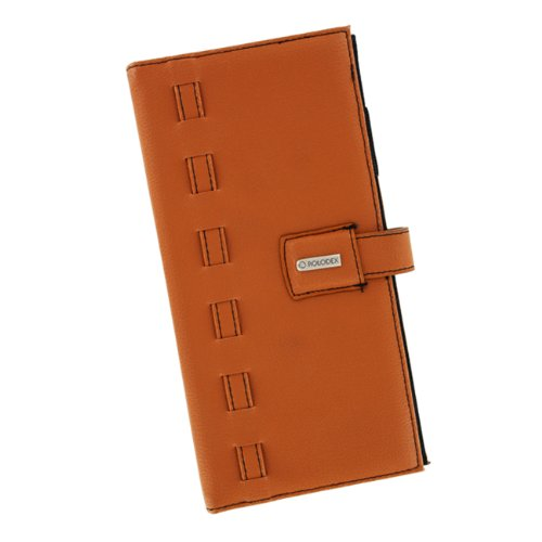 Rolodex 63060 Rolodex Weave Business Card Book, 96 Cap., Faux Leather, Camel