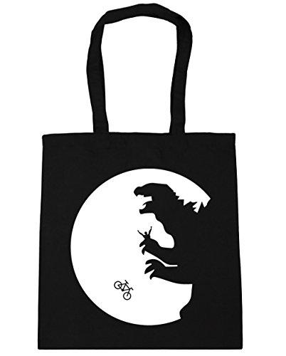 HippoWarehouse no va a casa luna bolsa de la compra bolsa de playa 42cm x38cm, 10litros negro