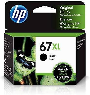 HP 67XL | Ink Cartridge | Black | Works with HP ENVY 6000 Series, HP ENVY Pro 6400 Series, HP DeskJet 1255, 2700 Series, DeskJet Plus 4100 Series | 3YM57AN