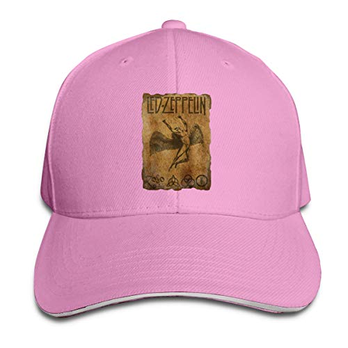 GMSFF Led Zeppelin Legends Vintage Classic Casual Baseball Cap with Adjustable Strap Cap Pink
