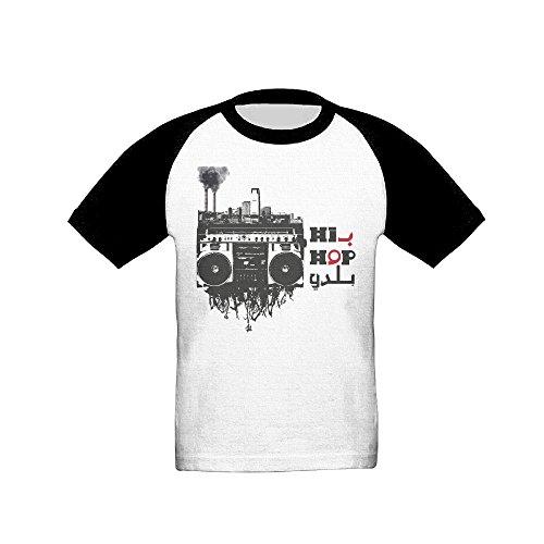 Loopkt Hip Hop Illustration Children's Raglan T-Shirt Short Sleeves Basic Baseball Jersey Round Neck Colorblock Summer T - Leesburg Stores