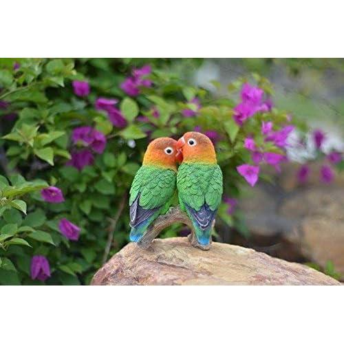 Hi-Line Gift Ltd. Parrots On Branch Statue for sale