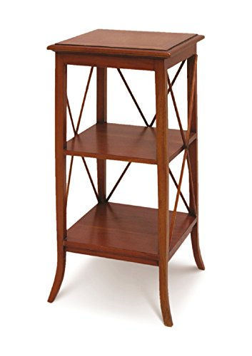 NES Furniture NES Fine Handcrafted Furniture Solid Mahogany Wood Ariel Plant Stand/Side Table - 33