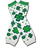 "FLOWERY SHAMROCK ST PATRICK DAY - Baby Leggings/Leggies/Leg Warmers for Cloth Diapers - GIRLS OR BOYS & ONE SIZE by ""BubuBibi"""