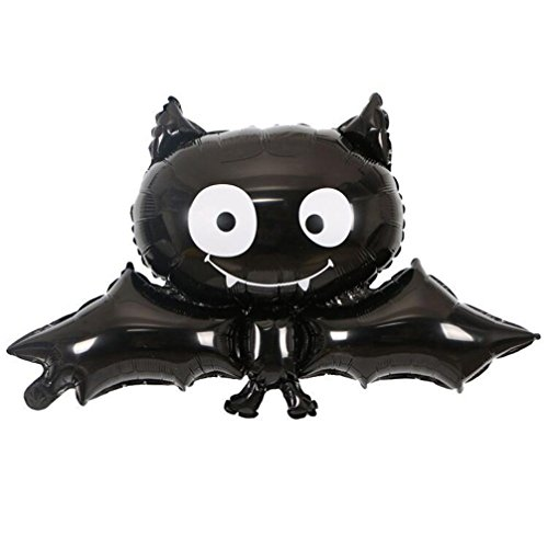 Happy Halloween Party Household Children Air-filled Balloon Pumpkin Balloon Ghost Decor Terror Fun by SMYTShop (Black bat) (Halloween Film Festival)
