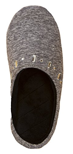 Fleece 9 5 Sweatshirt Zadie Slipper Black Hoodback Isotoner 10 Women's EAqTwBTf