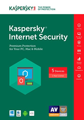Kaspersky Internet Security 2017 | 5 Device | 1 Year | Download [Online Code] by Kaspersky