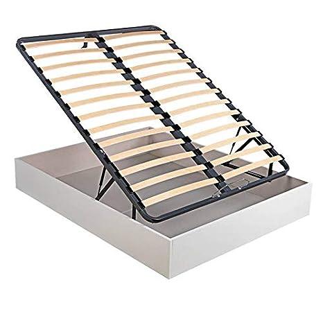 Canapé Abatible Madera láminas Oxfort - Blanco, 150x190cm: Amazon.es: Hogar