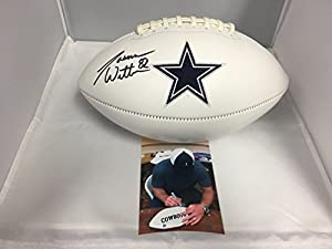 Jason Witten Autographed Signed Dallas Cowboys Logo Football Witten Hologram W/photo from signing