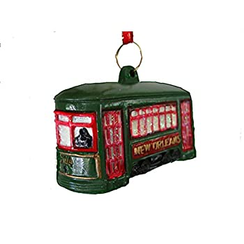 St. Charles Ave. Street Car Trolley Car Holiday Ornament with Free Drawstring Pouch/bag