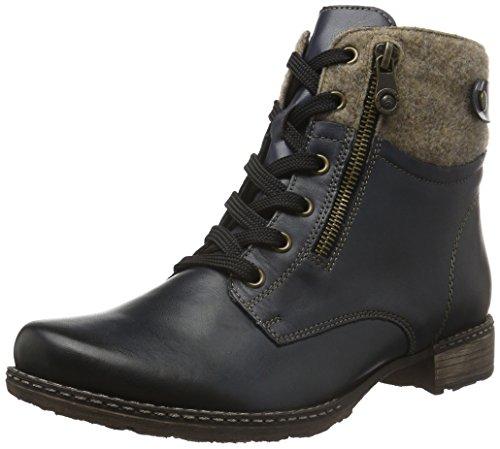 Remonte D4379 Damen Combat Boots Blau (lake/wood/pazifik / 14)