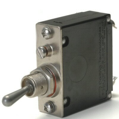 (Heavy Duty Automotive 40 Amp Toggle Switch Circuit Breaker With #10 Screw)