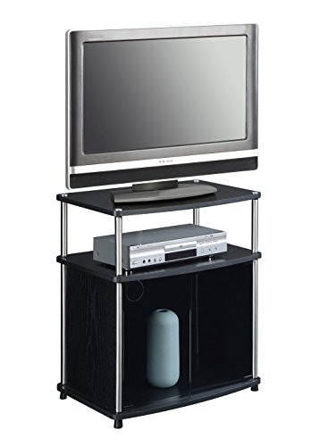 Convenience Concepts Designs2Go TV Stand with Cabinet for Flat Panel TV's Up to 25-Inch or 50-Pounds, Black by Convenience Concepts (Image #2)