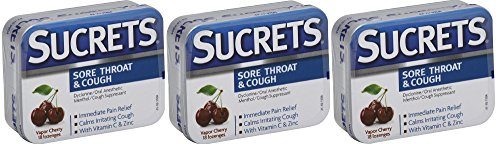 - Sucrets Sore Throat & Cough Vapor Cherry 18 Each (Pack of 3)