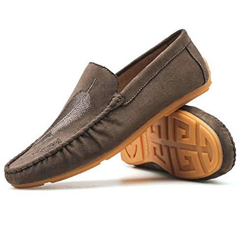 Cordones Caqui de de Hombres Zapatos de los la Personalidad Zapatos Primavera de de Pedales Ocio de los H5Oqnax
