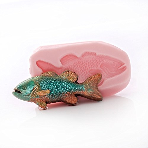 - Small Fish Shaped Silicone Mold Food Safe Fondant, Chocolate, Candy, Resin, Polymer Clay, Craft, Jewelry Food Mold.