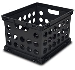 Sterilite 16939006 File Crate, Black, 6-Pack