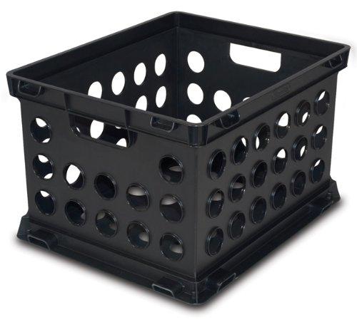 Sterilite 16939006 Crate Black 6 Pack