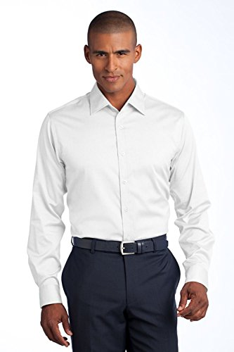Red House Men's Slim Fit Non Iron Pinpoint Oxford S White