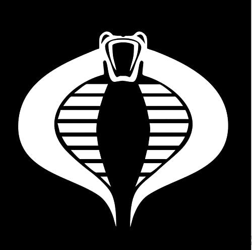 amazon com g i joe cobra logo 5x4white vinyl decal sticker stickyfingers kitchen dining gi joe cobra logo 5x4white vinyl decal sticker stickyfingers