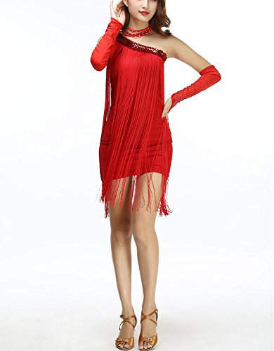 Whitewed Vintage - Inspired Flappers Style Dresses of the 1920s for Women Red, Red, One (Flapper Dresses Cheap)