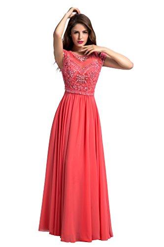 Donna ad watermelon red Abito a da sposa Mall linea Bridal UgnTw0qg