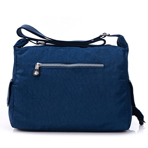 Zipper Sports Bag body Light Navy Pockets Fabric blue TianHengYi Nylon Bag Messenger Cross Multiple Womens Shoulder RPnqxnwS1