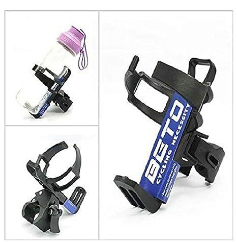 FASTPED  Adjustable Bike Bicycle Water Bottle Cage Holder Rack - Black Color