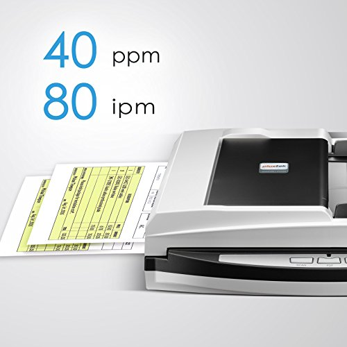 Plustek - High Speed Versatile Scanner, + one. with 50 Document Feeder and Size Special Design Suit for Folded documents.