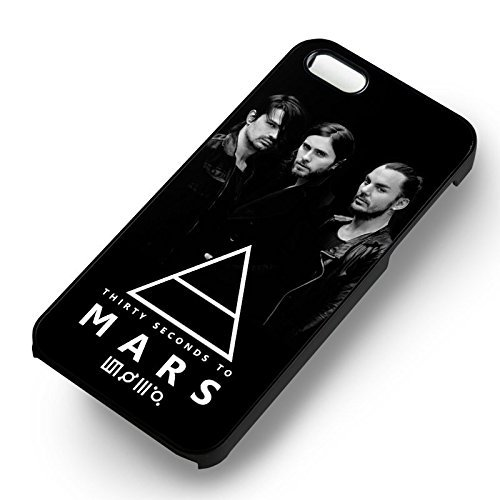 30 Seconds To Mars Stage 1 pour Coque Iphone 6 et Coque Iphone 6s Case (Noir Boîtier en plastique dur) O4F1UJ