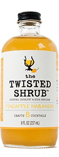 The Twisted Shrub – PINEAPPLE HABANERO – Handcrafted Apple Cider Vinegar drink mixer for Shrub Cocktails  Sodas