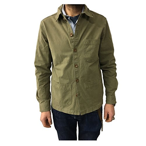 Franch In Uomo Verde Made 100 55 Italy Vintage Work Giacca Jacket Cotone 7qwfnRC