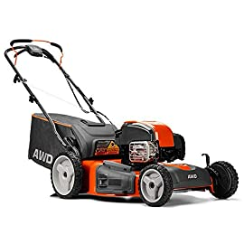 Husqvarna 22 Inch Self Propelled Gas Lawn Mower with Briggs & Stratton Engine 107 Gas-powered, self-propelled lawn mower designed for sleek cuts on small to medium-sized lawns Comes with a Briggs & Stratton engine Uses a 3-in-1 cutting system that allows for several cutting options and desired results