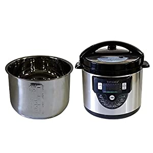 Tayama TMC-60SS Electric Pressure Cooker with Stainless Steel Pot 6 Quart, Medium, Black 10