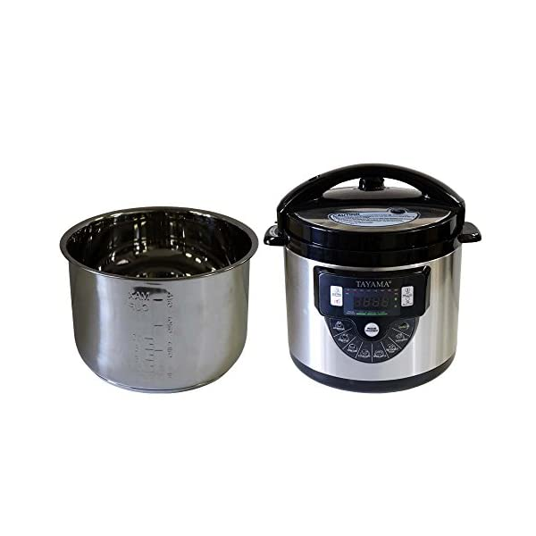 Tayama TMC-60SS Electric Pressure Cooker with Stainless Steel Pot 6 Quart, Medium, Black 1