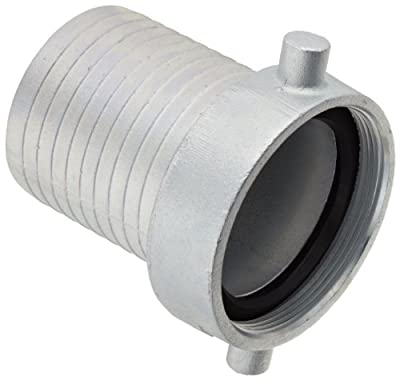Dixon S Series Plated Iron Hose Fitting, King Short Shank Suction Coupling with Plated Iron Nut, NPSM Female x Hose ID Barbed